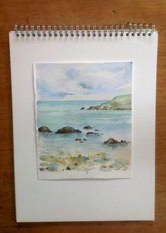 Cornish beach  Watercolour - Rosemarie Shapland