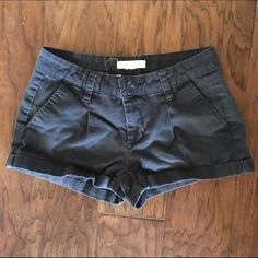 Navy cuffed shorts Navy cuffed shorts. Size 26. For 24-26 have stretch. Shorts