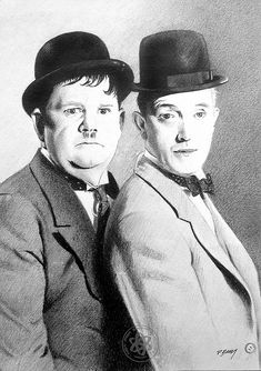 Laurel and Hardy 02 by Paul Brady