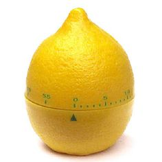 minuteur de cuisine en forme de citron - lemon shaped cooking timer  - funny coloured cooking utensil - ustensile de cuisine rigolo de couleur