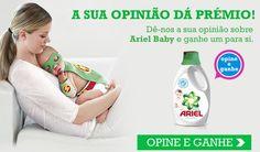 Embalagens de Ariel Baby - Grátis - http://parapoupar.com/embalagens-de-ariel-baby-gratis/