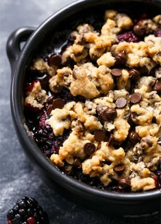 22. Blackberry Chocolate Chip Cookie Crumble