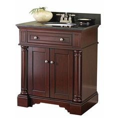 allen + roth 31-in Auburn Albain Single Sink Bathroom Vanity with Top $380