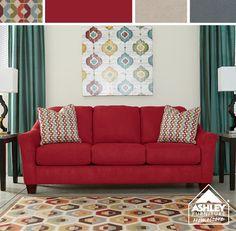 Hot red sofa! Coming Soon! Hannin Spice Sofa  - Ashley Furniture HomeStore
