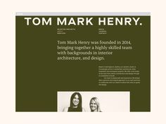 Tom Mark Henry — Christopher Doyle & Co.