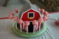 Southern Inkerbelles: The Barn and piggie cake pops. barn, piggi cake, cake pops