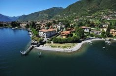 Airbnb - In the yellow house, my apartment for rent. A paradise corner on the Como Lake. Yellow Houses, Next Holiday, Lugano, Lake Como, Renting A House, My House, Places To Go, Spain, Villa
