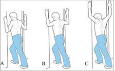 Through doorway stretch for upper crossed syndrome. The page itself is in Estonian, but I guess the picture here is pretty self-explanatory