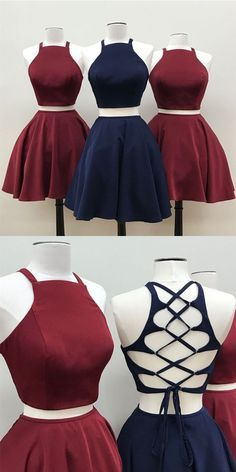 sexy 2 piece homecoming dresses, burgundy homecoming dresses, dresses for women