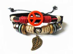 Women bracelet girls bracelet with Antiwar by braceletbanglecase, $8.00