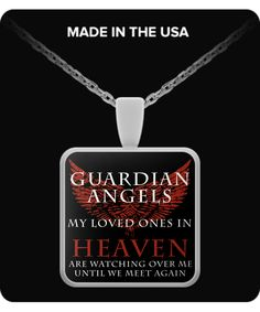 Guardian Angels Necklace Red guardian-angels-r