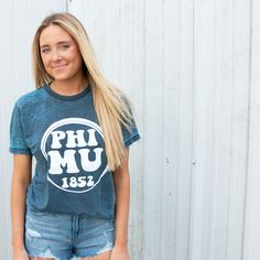 Phi Mu circle tee, perfect for recruitment and bid day!