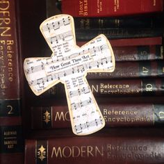 How Great Thou Art Wood Wall Hymnal Cross by BeingReMade on Etsy