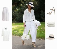 White Summer Look Fashion Online Shop, Mode Online Shop, Got Online, Business Look, Trends, London, All White, Summer Looks, Jumpsuit