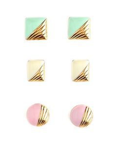Candy Coated Earring Trio
