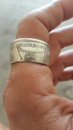 Sterling Silver Bezel Cadre Morgan ou Peace Dollar Coin