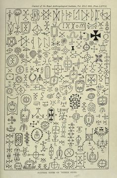 Nsibidi is a writing system of the Ejagham people of Nigeria. It is seen on tombstones, secret society buildings, costumes.Nsibidi does not correspond to any one spoken language. Ancient Alphabets, Ancient Scripts, Ancient Symbols, Ancient Art, Irish Symbols, Magic Symbols, Symbols And Meanings, Ethnisches Tattoo, Esoteric Symbols