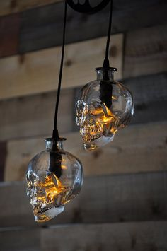 Crystal Skull Vodka Pulley Chandelier Recycled Glass Bottle - All About Decoration Crystal Head Vodka, Pendant Chandelier, Pendant Lighting, Bottle Chandelier, Rustic Lighting, Crystal Chandeliers, Skull Pendant, Skull Vodka Bottle, Bottle Bottle