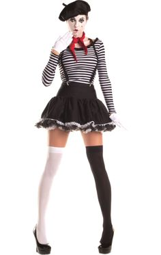 Female Mime Costume