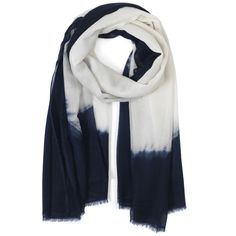 Hey, I found this product at Wardrobe Apparel and thought you would be interested.  JANE CARR Navy/White Two-Tone Scarf