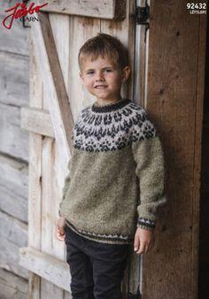 Visa detaljer för Slóðir - barntröja i Lettlopi Purl Stitch, Slip Stitch, Boys Sweaters, Winter Sweaters, Free Knitting, Baby Knitting, Bind Off, Lace Scarf, Kids Patterns