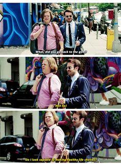 """""""Do I look capable of making healthy life choices?"""" - Foggy and Matt #Daredevil ((Hahaha))"""