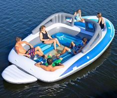 You can use it on land or water, as poolside furniture, on your patio or deck–any location. The simple to use safety valve makes inflating and deflating fast and easy, allowing you to inflate to your desired comfort level. Inflatable Floating Island, Inflatable Water Park, Promenade En Bateau, Lake Floats, Cool Pool Floats, Giant Pool Floats, Lake Toys, Summer Pool, Pool Toys