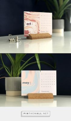 2019 desk calendar with a modern cork holder, perfect for the stationery lover! Included are 6 double-sided postcards for a 12 month view, with a cork. Calendar 2019 Desk, Calendar Layout, Diy Calendar, Desk Calendars, Desktop Calendar, Kalender Design, Cork Holder, Accessories Display, Diy Papier