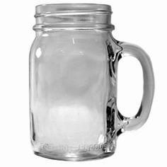Glass Jars - 16 oz Plain Drinking Mug