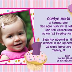 First Year Birthday Invitation Cards Free Download