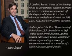 Andino handles a mix of criminal and civil cases for individuals and businesses.
