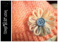 Flor en Telar Redondo / Circular Knifty Knitter FACIL  - Flower Loom Flo...
