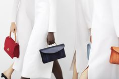 Mansur Gavriel's 2017 Spring/Summer Campaign Is Fiery Red and Plaid: Hurry – the collection drops at 11 a. Teen Winter Outfits, Diy Fashion, Womens Fashion, Cheap Fashion, Fashion Photo, Bags For Teens, Summer Campaign, Designer Handbags On Sale, Mode Editorials
