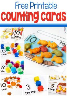 We have been obsessed with counting cards lately! Every time I think I'm almost finished creating them, another theme pops into my head! In case you missed any of these super fun free printable counting cards, you can find them all here. If you have any suggestions for themes, just let me know. These counting …