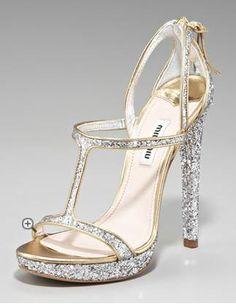 Miu Miu Glitter D Orsay Heels - wow!!