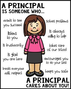 School Principal Poster [Someone Who] Classroom Behavior, Classroom Rules, Classroom Posters, Classroom Activities, Principal Appreciation, Teacher Appreciation, Community Helpers Preschool, Leader In Me, Teachers' Day
