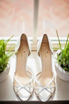 white lattice peep toes by Kate Spade