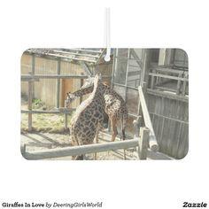 Giraffes In Love Air Freshener