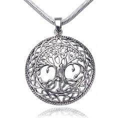 "925 Sterling Silver Beautiful Detailed Tree of life Celtic Knot Pendant, Rhodium Plated Chain 18"" Chuvora http://www.amazon.com/dp/B009CK9ZZU/ref=cm_sw_r_pi_dp_btA1tb0Y7S3VQEMY"