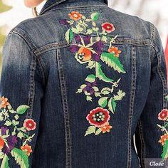 1090f217c148a323e1a0d03a4c18d049.jpg (425×425) #EmbroideryJeanJacket