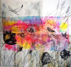 "Saatchi Art Artist Daniela Carletti; Painting, ""On the path of herons n.1- SOLD"" #art"