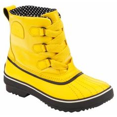 Loving this Spectra Yellow & Black Tivoli Rain Boot on Sorel Boots Womens, Ugg Boots, Rain Boots, Shoe Boots, Outdoor Apparel, Outdoor Gear, Creative Shoes, Waterproof Coat, Canvas Leather