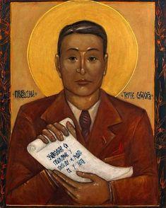 Chiune Sugihara era hum Cristão ortodoxo;  Aqui ELE E retratado em hum Icone.  Светлана Вукмировић