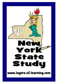 New York State Study from Layers of Learning.  Activities, history, geography, fabulous facts, and a free printable state map.