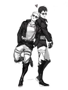 Reiner x Bertholdt, Reibert, Attack on titan, AOT, SNK