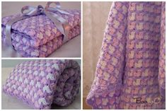 Booboo boutique Handmade crocheted baby blanket 100% Soft Acrilyk Baby Yarn 95x95 cm