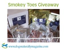 Win a bountiful basket of Smokey Toes products, including two boxes of Joint Care Flavor Packs plus smoked chicken feet, smoked rabbit, and goose jerky treats, with bonus sulfate-free conditioning shampoo and holistic insect repellent. Smokey Toes' joint supplements offer proven results, and your dog will love these unique treats! Approximate value $150. Contest ends September 15th 2013 at 11:59 pm EST. Enter Here: http://www.dogsnaturallymagazine.com/smokey-toes-giveaway/
