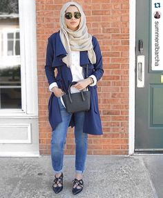 We love how summeralbarcha styled our Navy Drapey Trench! How would you style it? Shop link in bio :) #Repost summeralbarcha with @repostapp. ・・・ Today's on the go look in this super versatile shopmodmode navy trench coat. ❤️ perfectly lightweight for the summer! #coatobsession.All available on our website.www.modmodeboutique.com