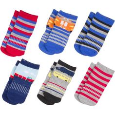 Growing Socks by Peds, Boys' Infant, Cars, 6 Pairs - Walmart.com Shop now @walmart #PedsBaby #GrowingSocks