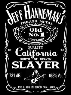 JEFF HANNEMAN SLAYER tribute tshirt with Jack by POliteHOstility, $10.99